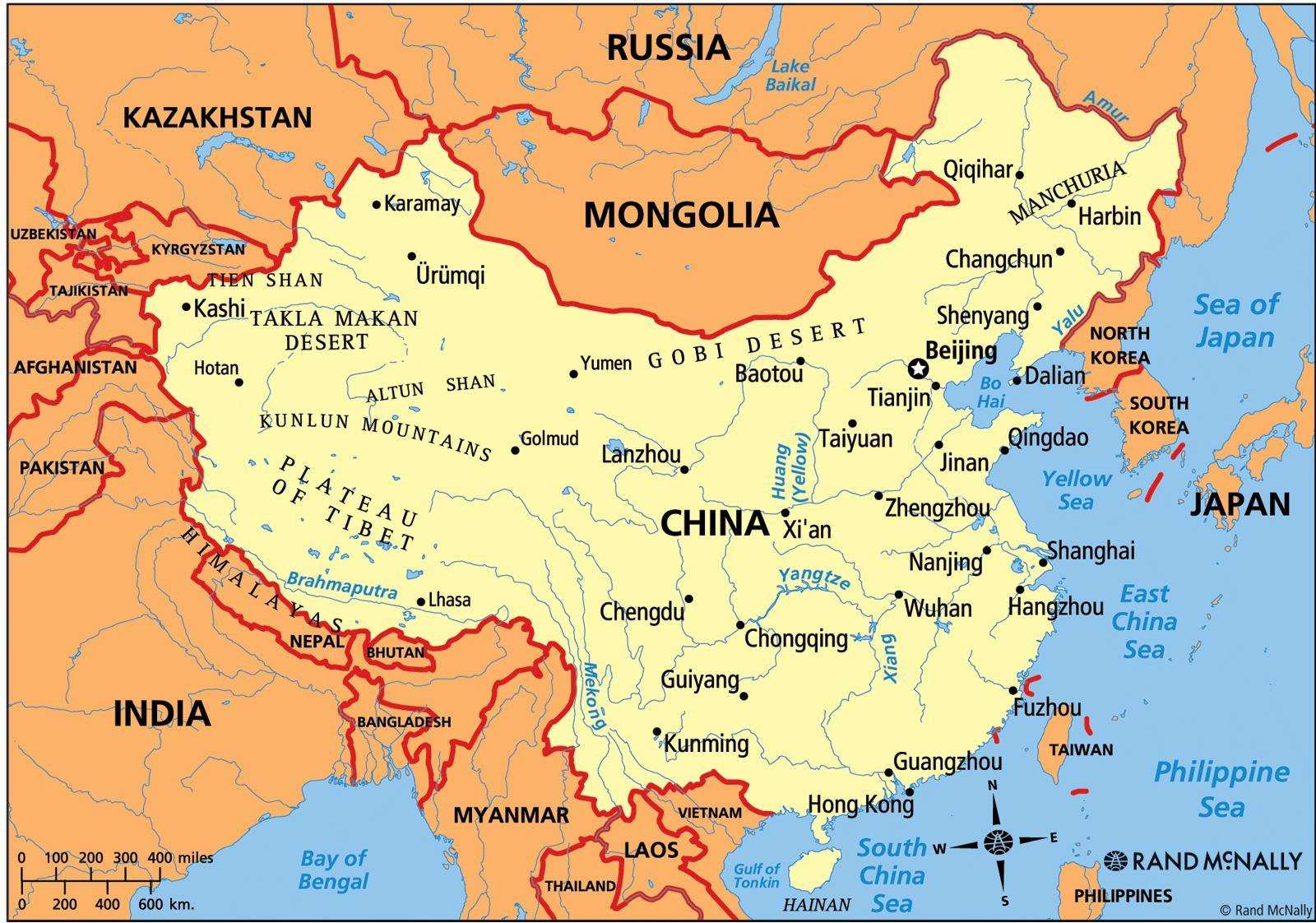 Cartina Politica Asia.Cina Politica Sulla Mappa Mappa Cina Politica Asia Orientale Asia