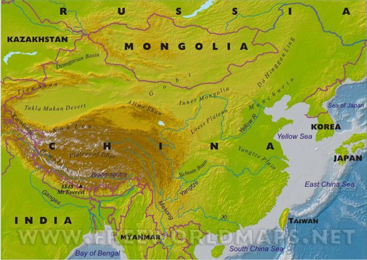 Cartina Geografica Della Cina.Mappa Cina Caratteristiche Geografiche Mappa Della Cina Con Caratteristiche Geografiche Asia Orientale Asia