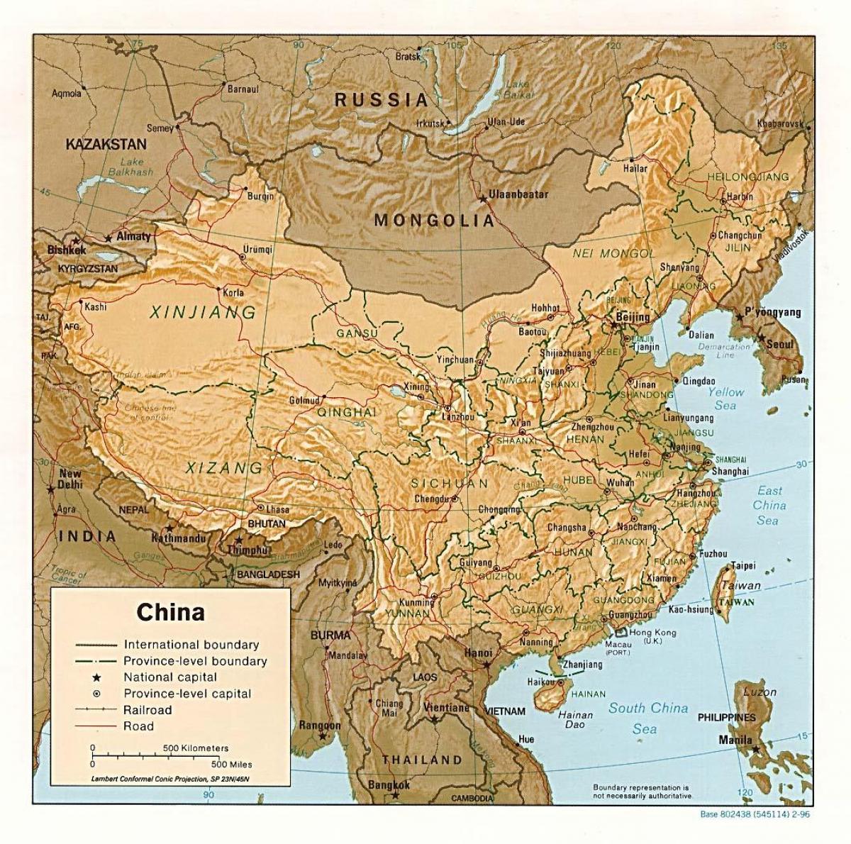 Cartina Geografica Della Cina.Mappa Geografica Della Cina Mappa Geografica Della Cina Asia Orientale Asia